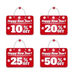 Sign board discount vector image