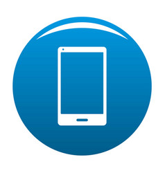smartphone icon blue vector image