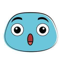 terrified emoji face icon vector image