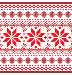 Traditional folk red embroidery pattern from Ukrai vector image