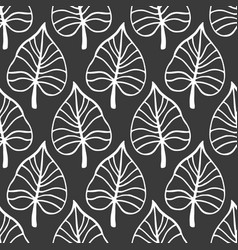Tropical leaves seamless pattern modern foliage vector