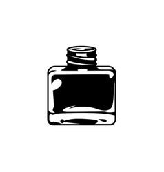 Vintage inkwell or ink bottle concept vector