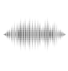 Waveform background isolated Black and white vector image