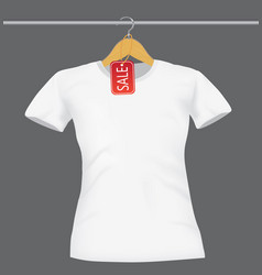 white shirt with price tag vector image