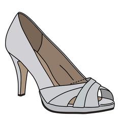 White womans shoe vector