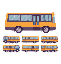 yellow bus set vector image