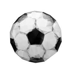 Abstract geometric polygonal football Soccer ball vector image