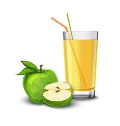 Apple juice glass vector image vector image