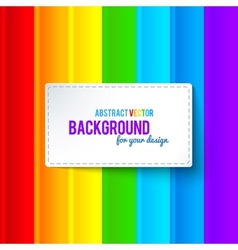 Bright colorful rainbow stripes background vector image vector image