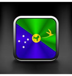 Christmas Islands flag national travel icon vector image