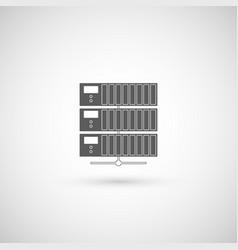 computer server icon flat design vector image vector image