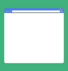 flat blank browser window vector image
