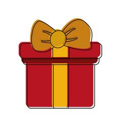 giftbox present symbol vector image vector image
