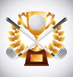 Golf club emblem vector