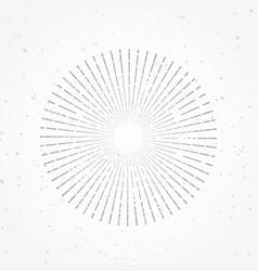 hipster abstract retro radial sunburst starburst vector image