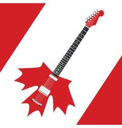 Canadian rock guitar vector image vector image