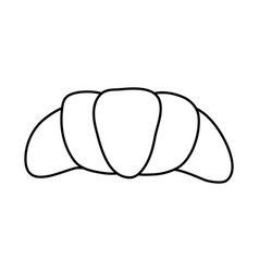 colorful croissant icon vector image
