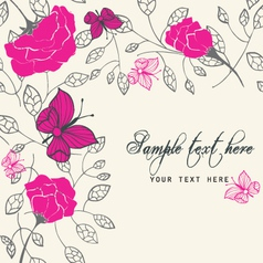 rich floral card vector image vector image