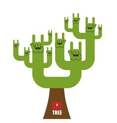 Rock and roll tree Fantastic tree from rock hand vector image vector image