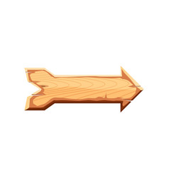 Blank wooden sign board icon vector
