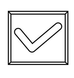 checked icon vector image vector image