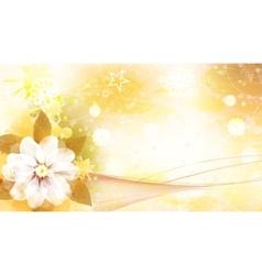 flower card vector image