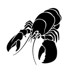 Graphic lobster vector