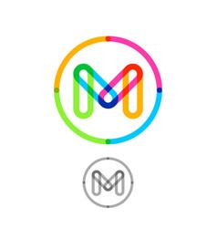 m logo transparent elements vector image