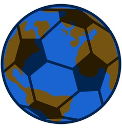 Planet soccer vector image vector image