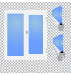 Plastic window glazed sectional on checkered vector image vector image