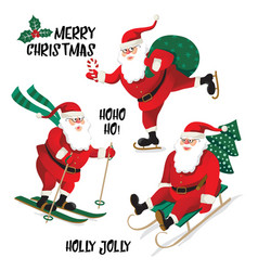 santa clause going to celebration christmas vector image vector image