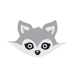 wolf animal carnival mask wild gray forest dog vector image vector image