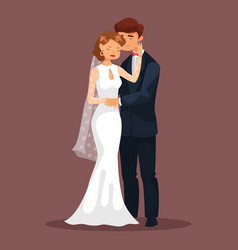 woman caress her man at wedding loved couple vector image vector image