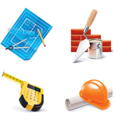 building renovating icon set vector image
