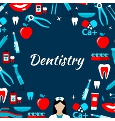 Dentistry and dental treatments banner vector image vector image