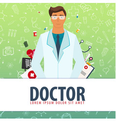 doctor medical background health care vector image