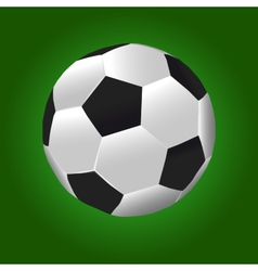 Football Ball With Green Background vector image vector image