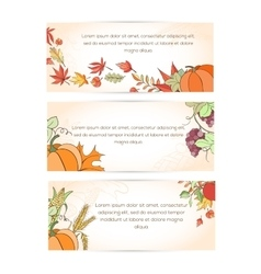 Thanksgiving holiday banner vector image