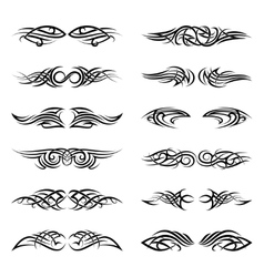 tribal tattoos vector image