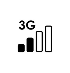 3g low network icon vector