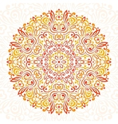 Abstract Flower Mandala Decorative ethnic element vector