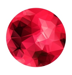 Abstract geometric polygonal red sphere vector