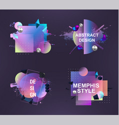 Abstract memphis art forms for design advertising vector