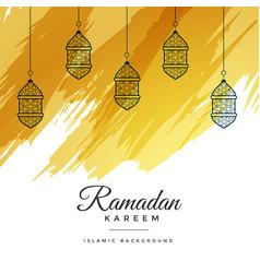 Abstract ramadan kareem watercolor background vector