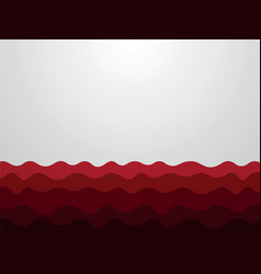 abstract red waves background vector image