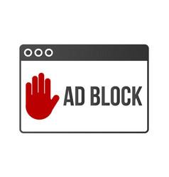 ad block popup banner lock concept vector image