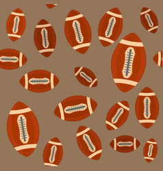 american football ball seamless pattern isolated vector image