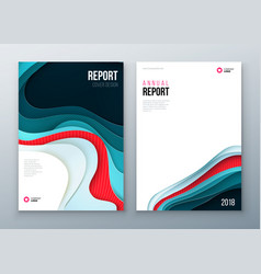 Annual report cover design corporate business vector