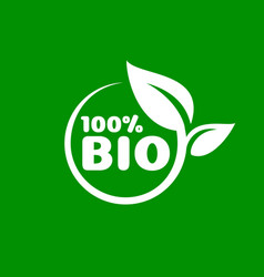 bio green organic leaf a tree icon on a white vector image