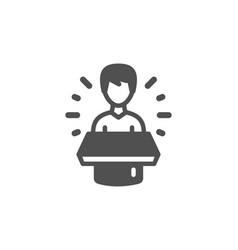 brand ambassador icon man speaking sign vector image